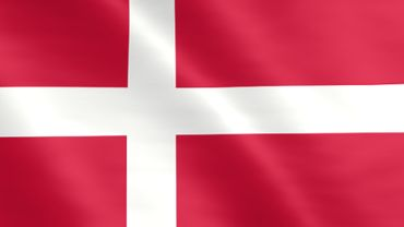 Animated flag of Denmark