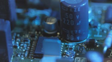 Macro closeup video of microchips