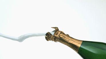 Slow Motion Champagne Bottle