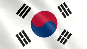 Animated flag of South Korea