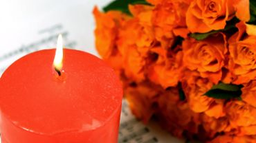Candle and roses 1
