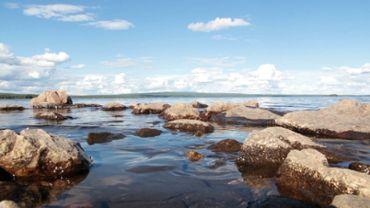 Rocks at a lake