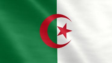 Animated flag of Algeria