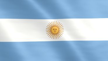 Animated flag of Argentina