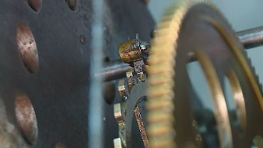 Gears of a clock working