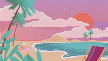 Animation of popular vacation spots