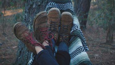 Feet on a hammock