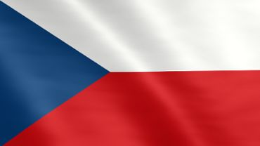 Animierte Flagge von Tschechien