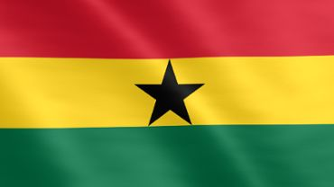 Animated flag of Ghana