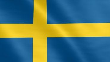 Animierte Flagge von Schweden