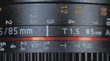 Lens focus of a DSLR camera
