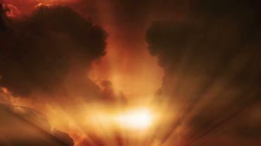 Golden Evening clouds