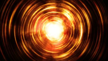Abstract glowing fire circles