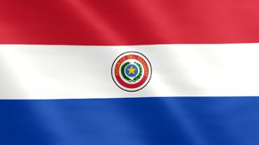 Animated flag of Paraguay