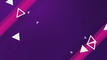 Animation of purple background and white triangles