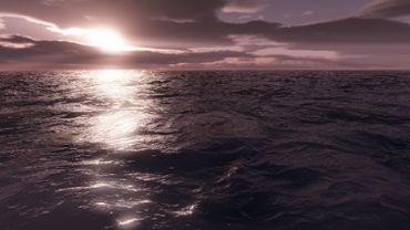low sun sea