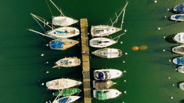 Viewwater Lake Sailboats Dock