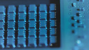 Microprocessor, macro close up