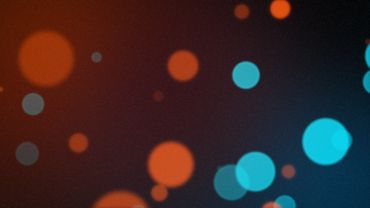 Blue Orange Bokeh looped