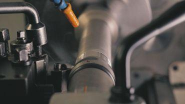 Industrial machine cutting