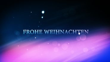 Xmas particles intro - Frohe Weihnachten