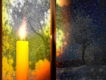 Winter candle 01