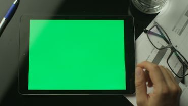 Tablet Green Screen