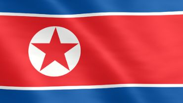 Animated flag of North Korea
