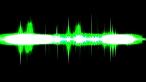 Green audio peaks