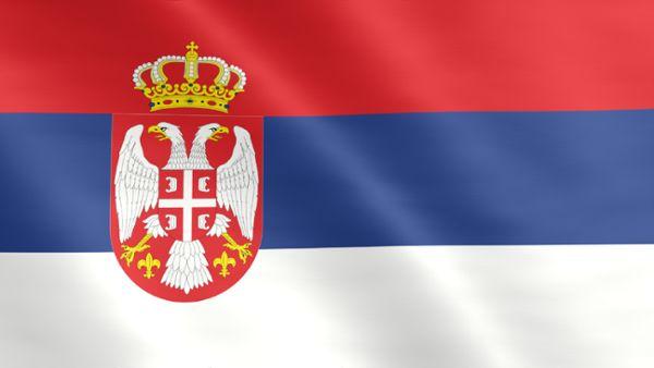 Animierte Flagge von Serbien
