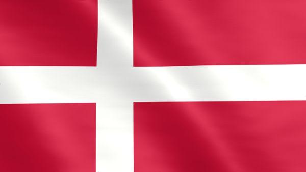 Animierte Flagge von Dänemark