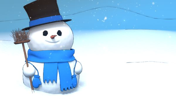 Xmas snowman loop