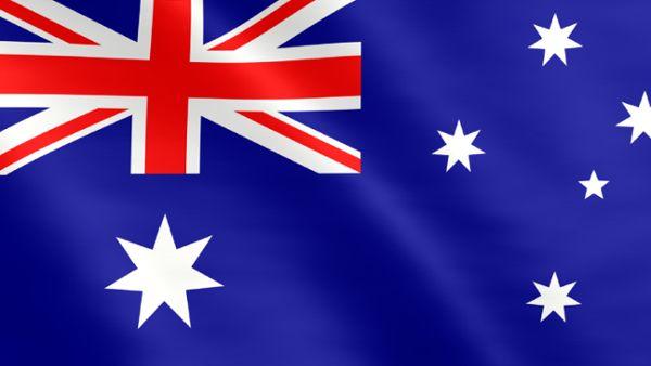 Animierte Flagge von Australien