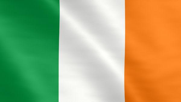 Animierte Flagge von Irland