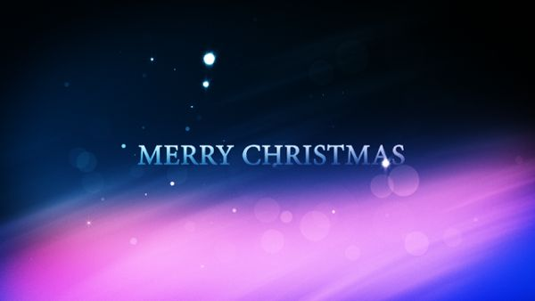Xmas Partikel intro - Merry Christmas