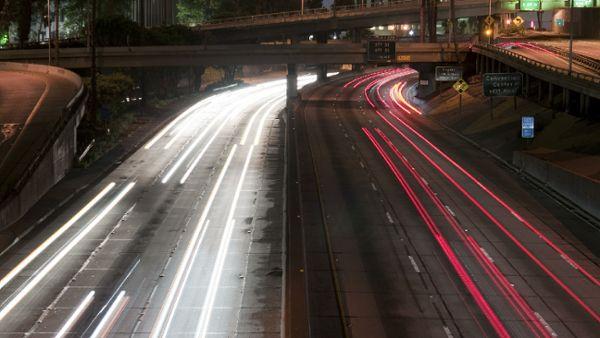 Speeding L.A. Highway