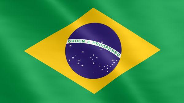 Animierte Flagge von Brasilien