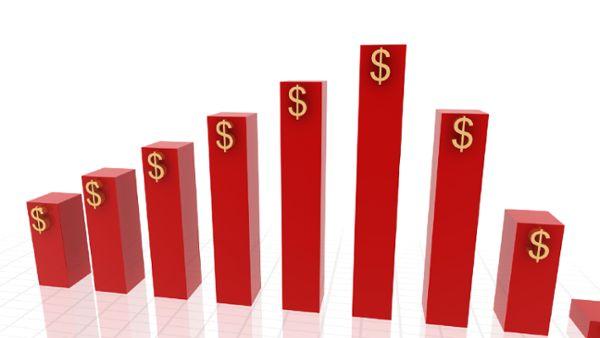 3d growing business chart 2