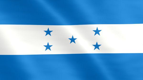 Animierte Flagge von Honduras