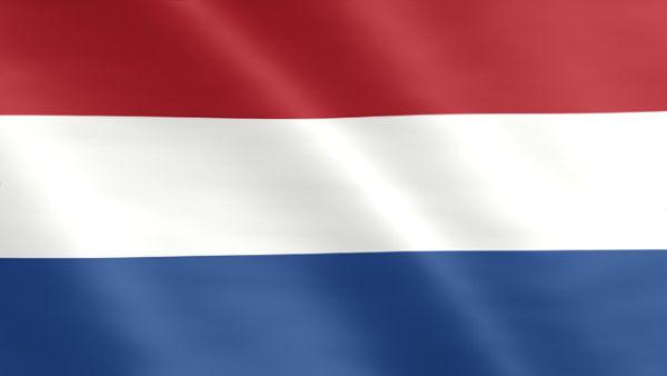 Animierte Flagge der Niederlande