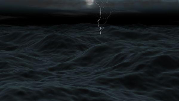 Thunder sea storm