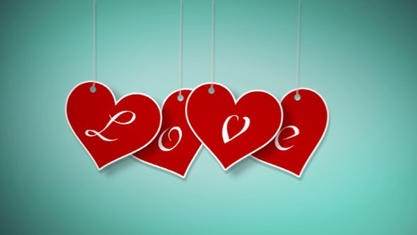 Valentine hanging labels