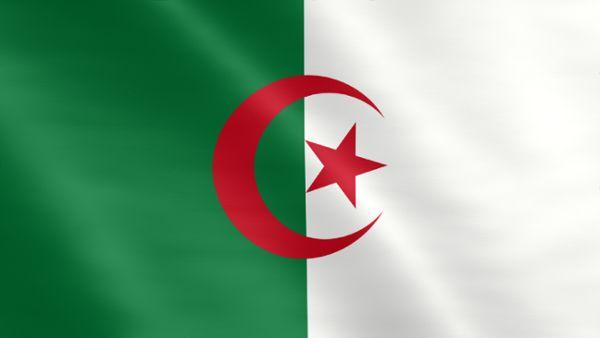 Animierte Flagge von Algerien