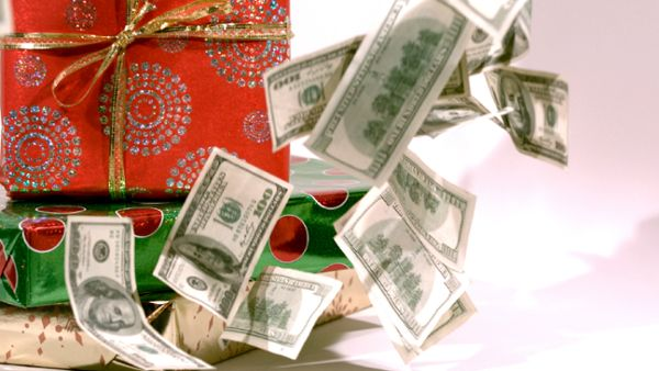 Christmas Falling Cash