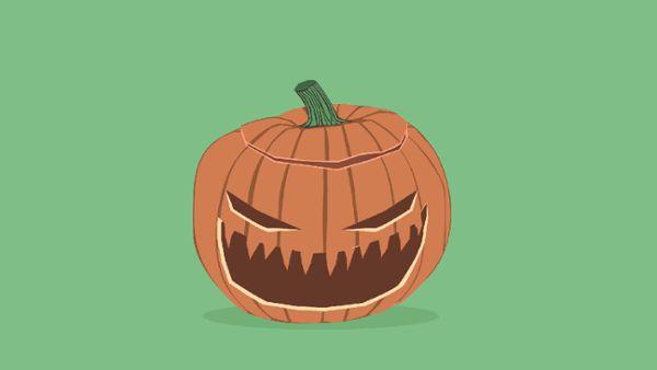 Laughing Halloween Pumpkin