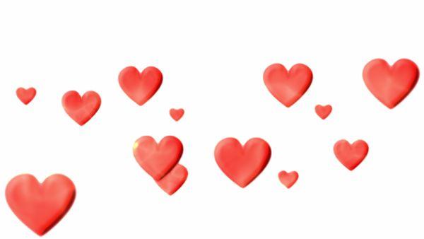 Pulsierende rote Herzen