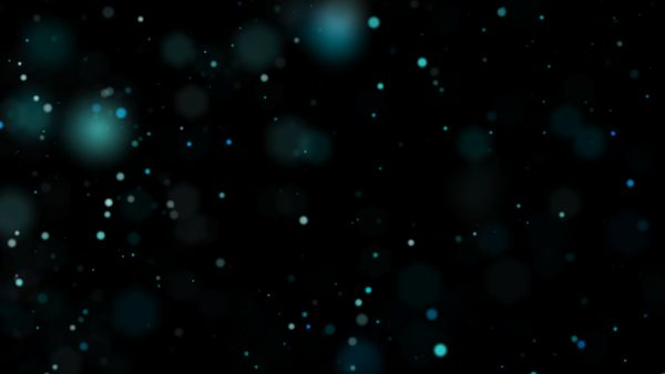 Particles Flowing Right Blue