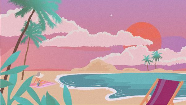 Animation of popular vacation spots