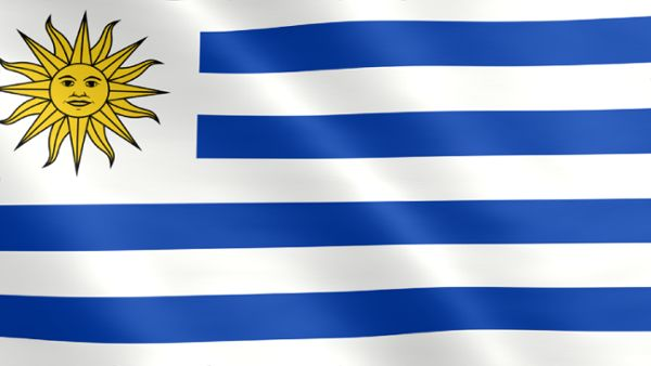 Animated flag of Uruguay