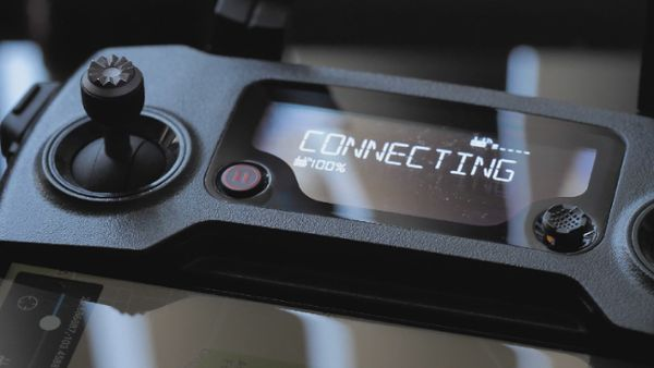 Drone remote control connecting